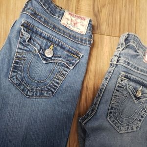 True Religion Jeans - Bundle of Womans Size 27 True Religions and MissMe